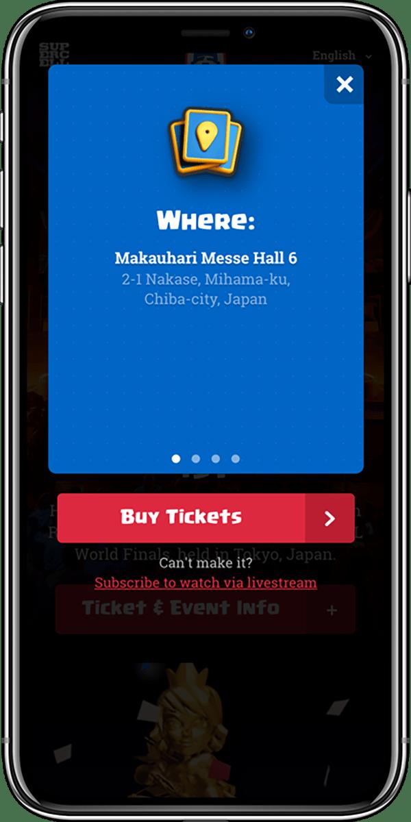 CRL Esports Event Info Phone