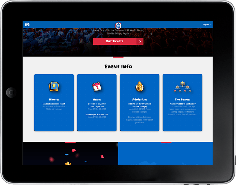 CRL Esports Event Info Tablet