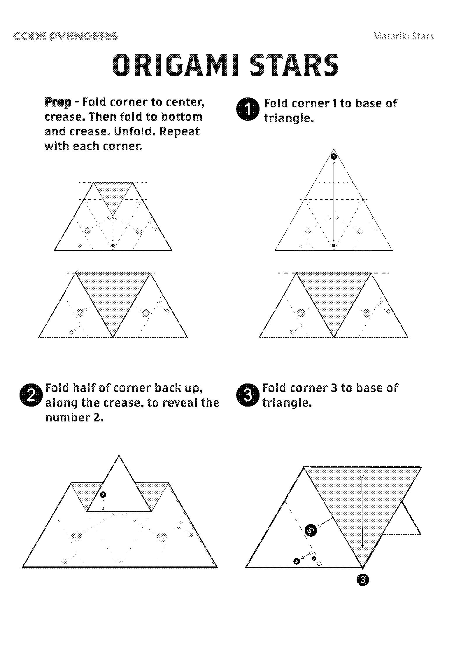 Star cluster - Matariki origami | Code Avengers on