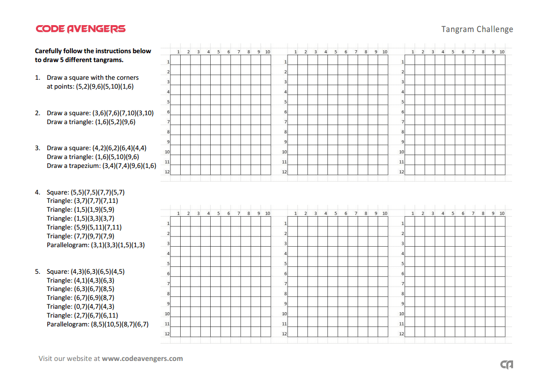 worksheet Input Output Devices Worksheet tangrams worksheet computational thinking code avengers click here to download pdf