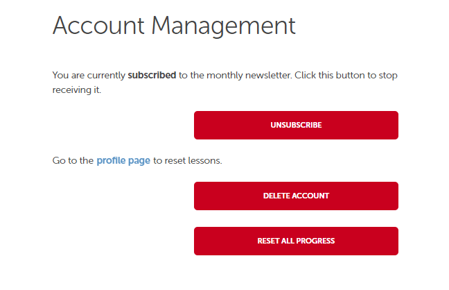 2c92c1d2dc Control your access to our newsletter and delete or reset the progress for  your entire account.