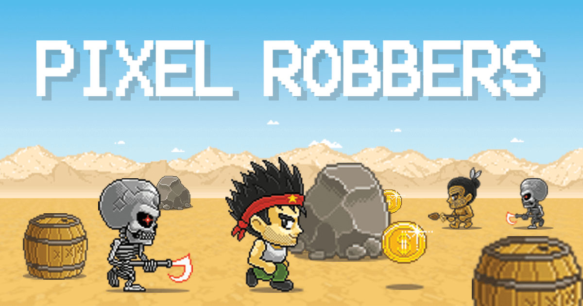 Pixel robbers game banner