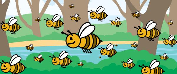 swarming-bees