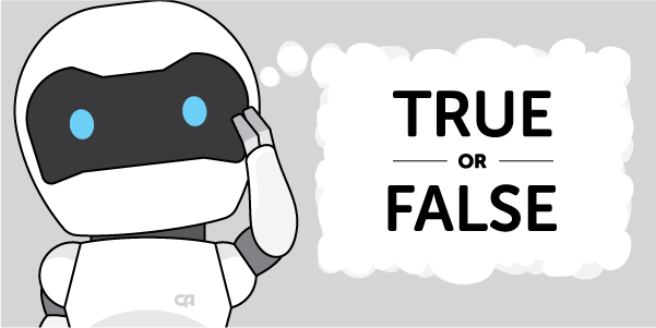 Robot questioning true-or-false