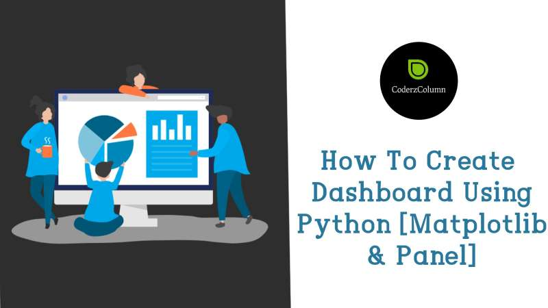 How to create interactive dashboard using Python(Matplotlib and Panel)?