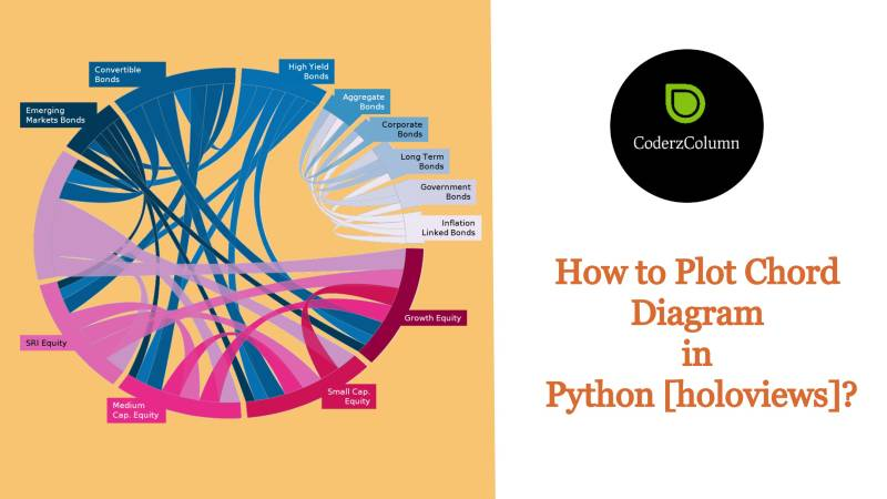 How to Plot Chord Diagram in Python [holoviews]?
