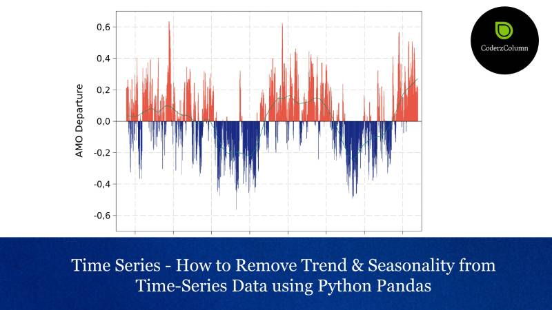 Time Series - How to Remove Trend & Seasonality from Time-Series Data using Python Pandas