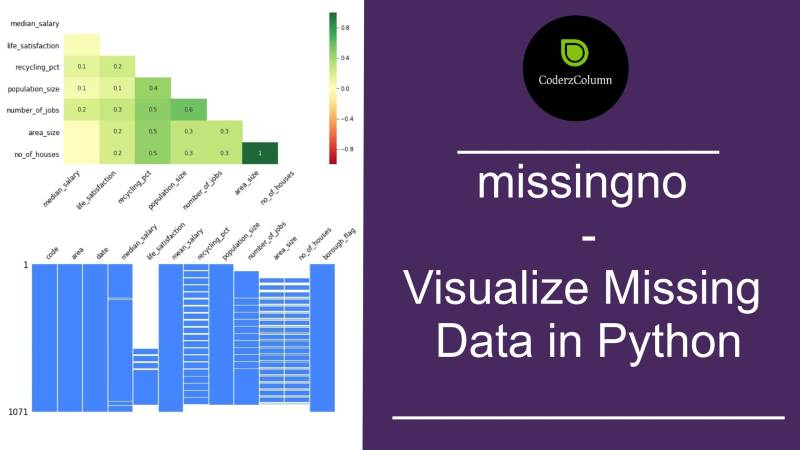missingno - Visualize Missing Data in Python