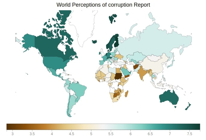Bqplot Perception of Corruption Choropleth Map