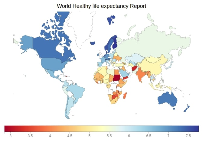 Bqplot Healthy Life Expectancy Choropleth Map