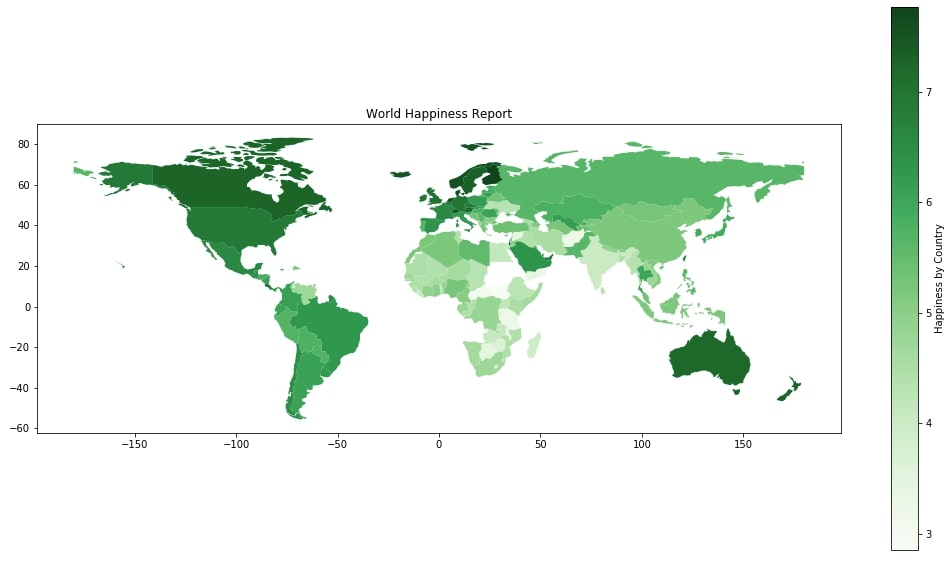 World Happiness Choropleth Map