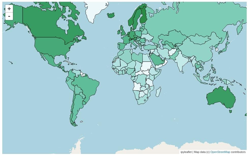 Choropleth Maps using ipyleaflet