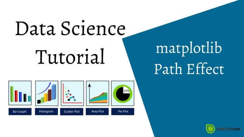 matplotlib - Path Effect