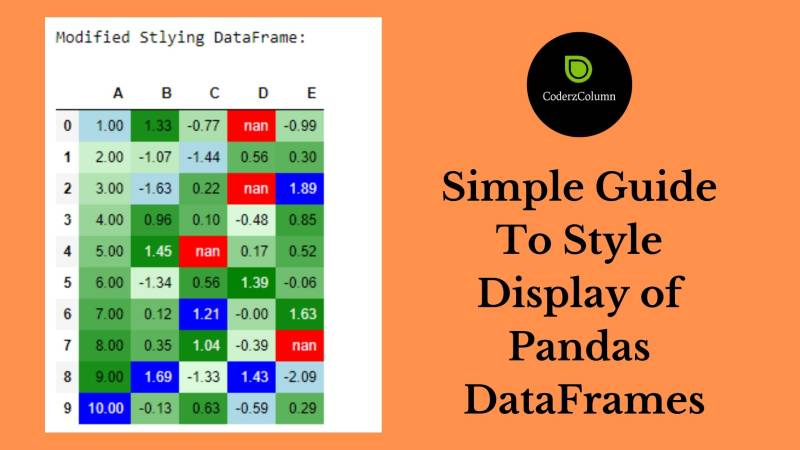 Simple Guide to Style Display of Pandas DataFrames