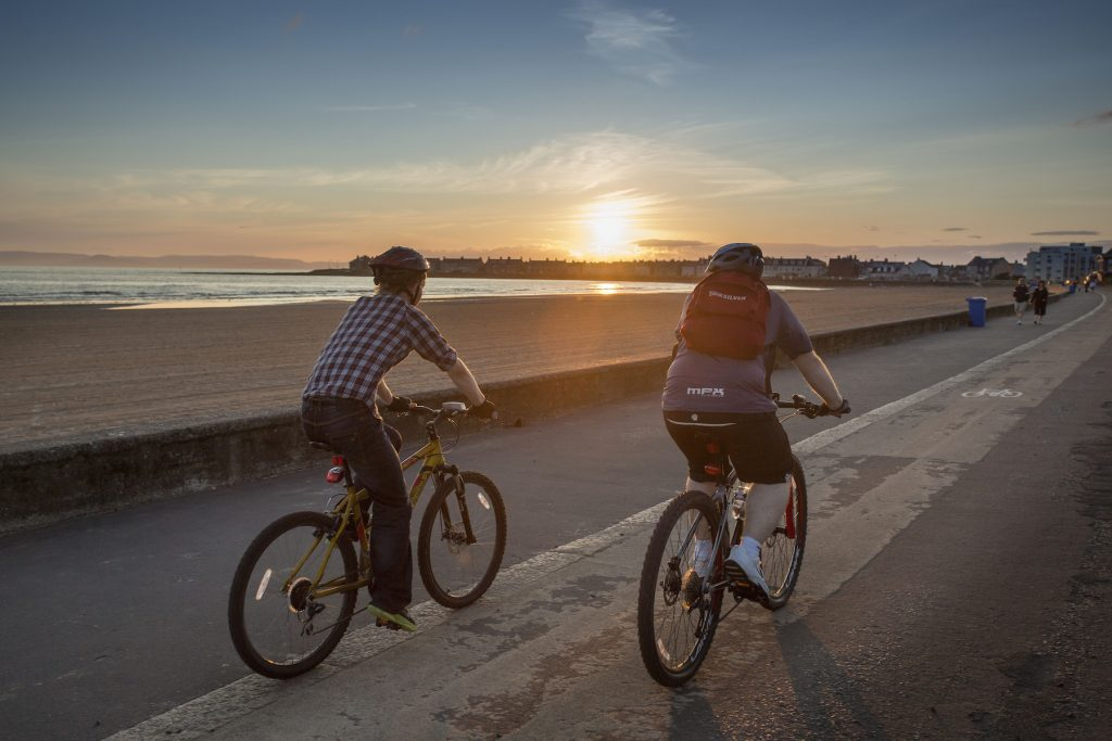 Cyclists By South Beach Troon