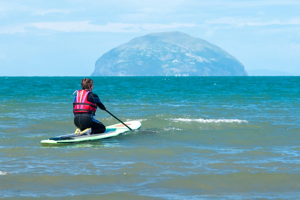 Paddle Boarding and Ailsa Craig