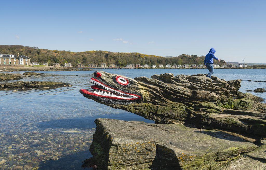 Child on Crocodile Rock Millport