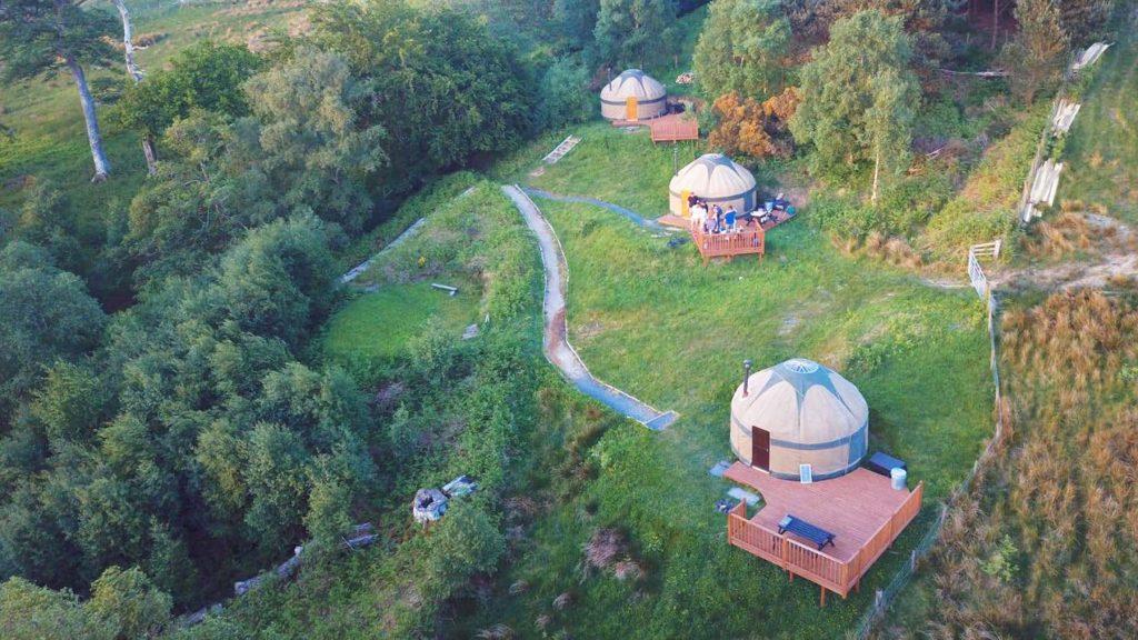 Kelburn Castle Aerial View