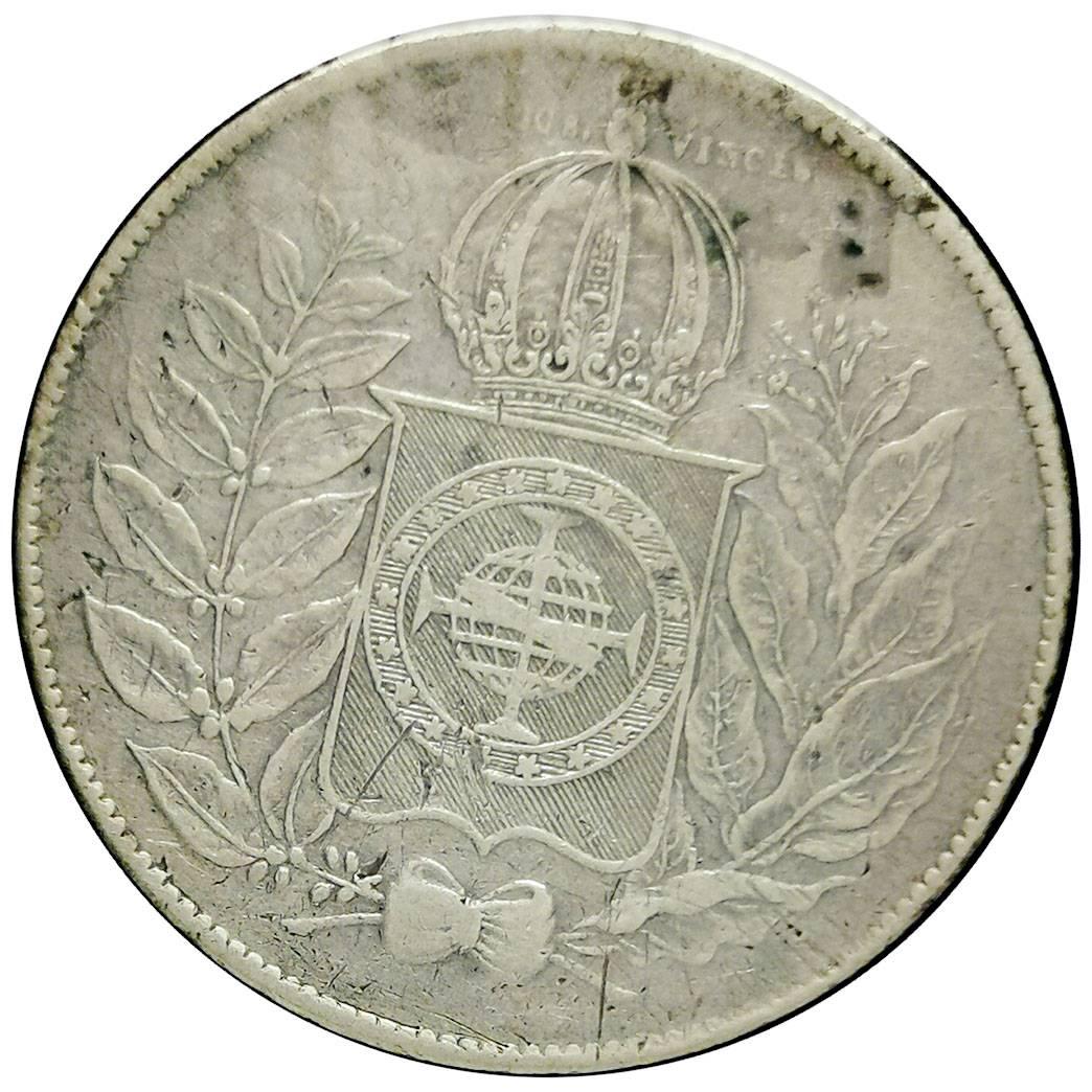 Coin 500 Réis - Pedro II Brazil reverse