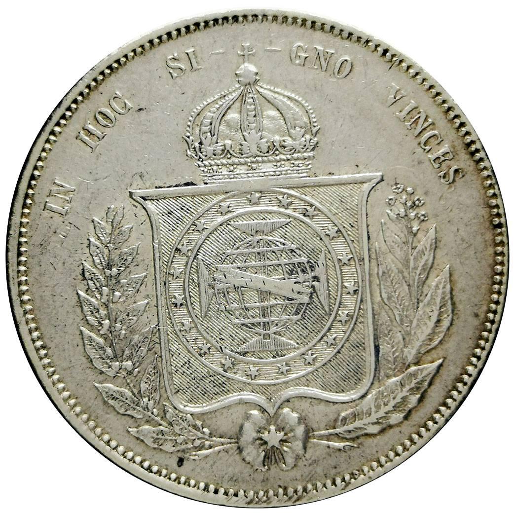 Coin 2000 Réis - Pedro II Brazil reverse
