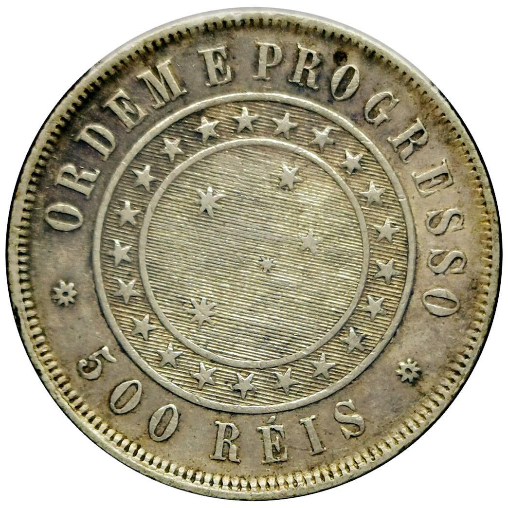 Coin 500 Réis Brazil obverse