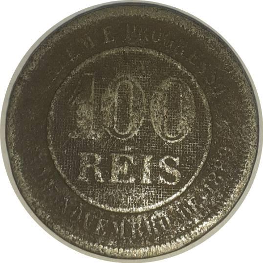 Coin 100 Réis Brazil obverse