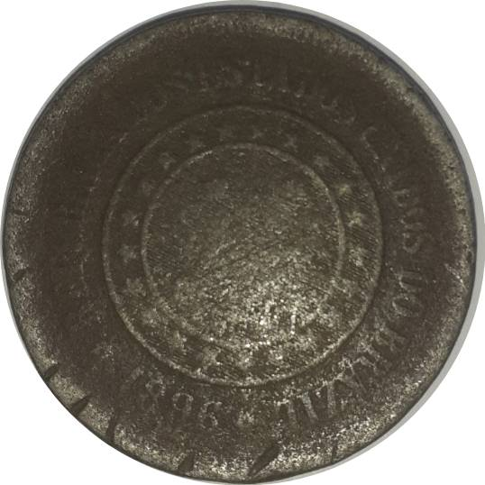 Coin 100 Réis Brazil reverse