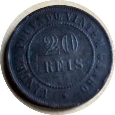Coin 20 Réis Brazil obverse