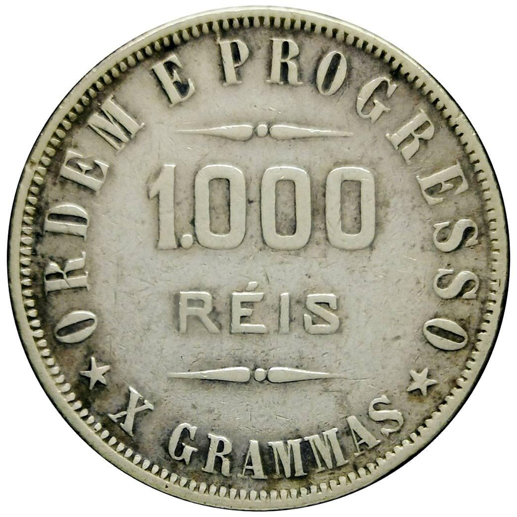Coin 1000 Réis Brazil obverse