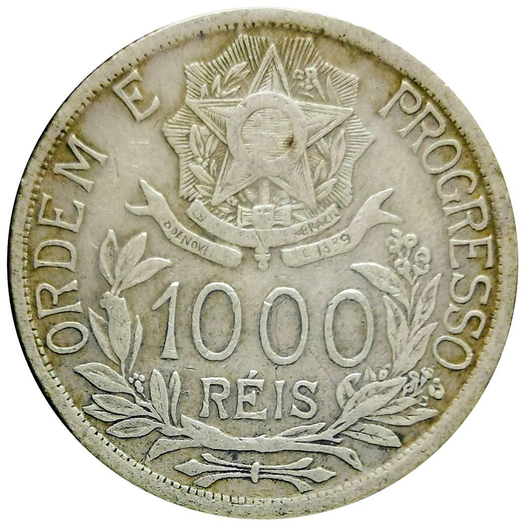 Coin 1000 Réis (estrelas ligadas) Brazil obverse