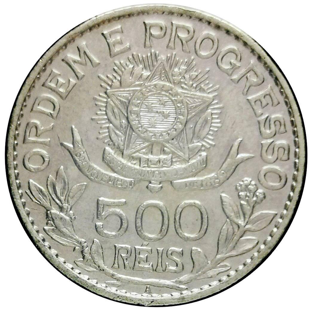 Coin 500 Réis (estrelas soltas) Brazil obverse