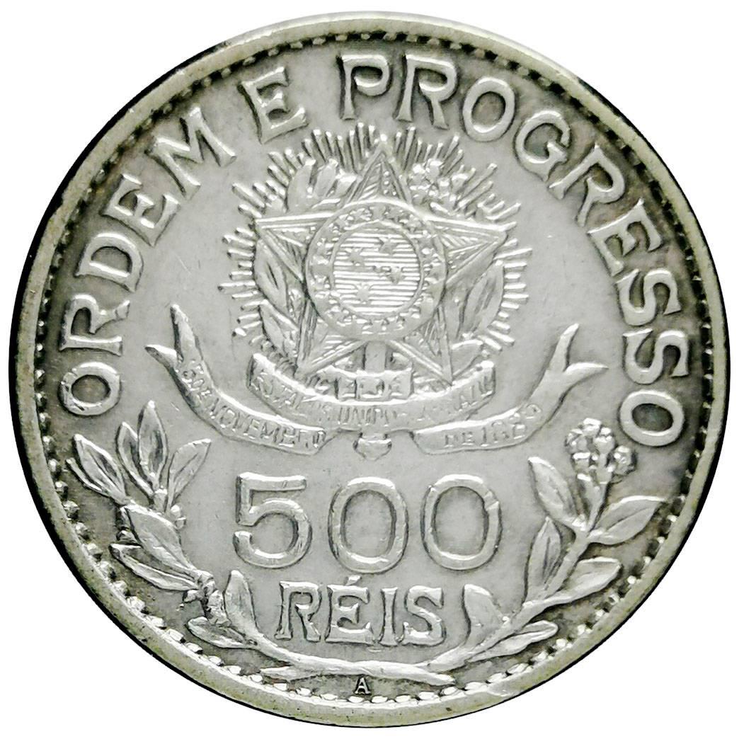 Coin 500 Réis (no dashes between stars) Brazil obverse