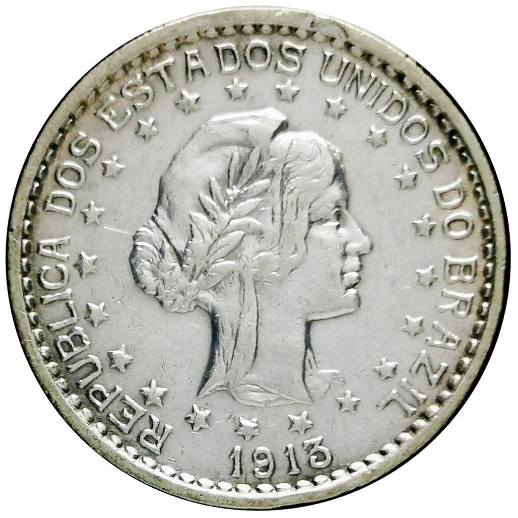Coin 500 Réis (no dashes between stars) Brazil reverse