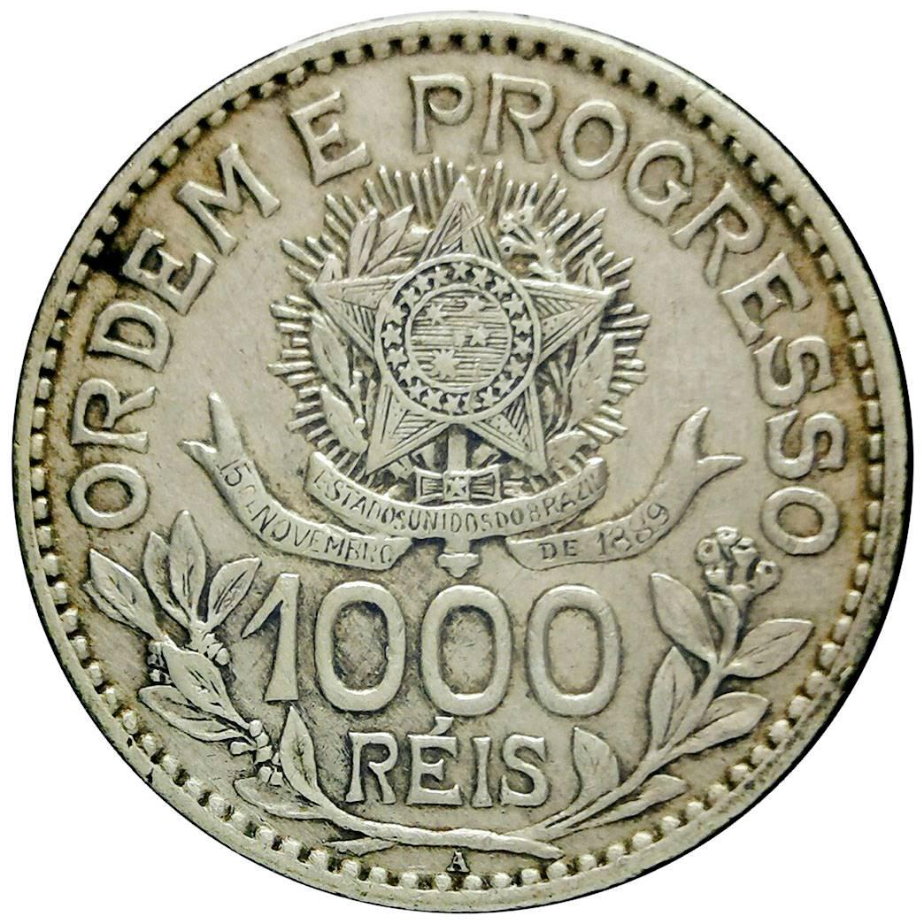 Coin 1000 Réis (estrelas soltas) Brazil obverse