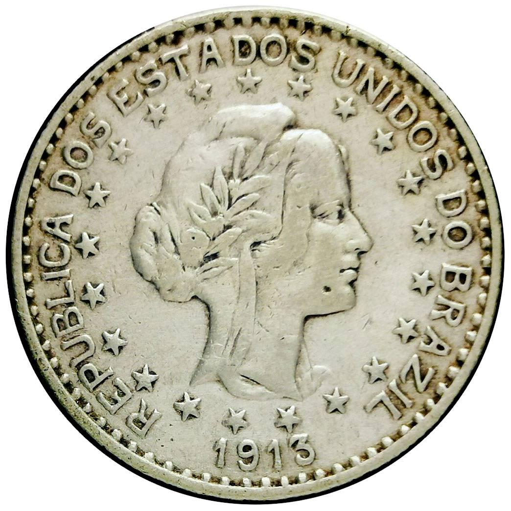Coin 1000 Réis (no dashes between stars) Brazil reverse