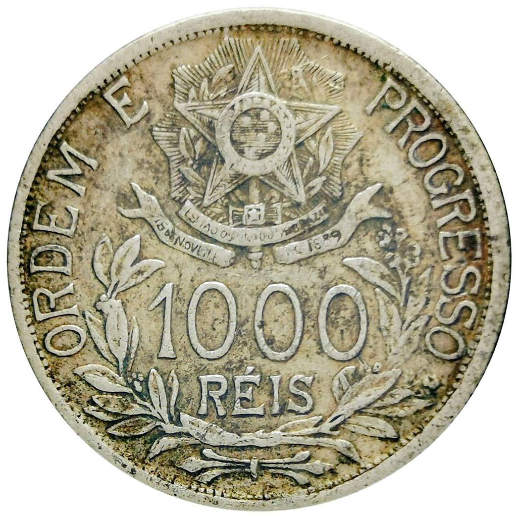 Coin 1000 Réis (estrelas ligadas) undefined obverse