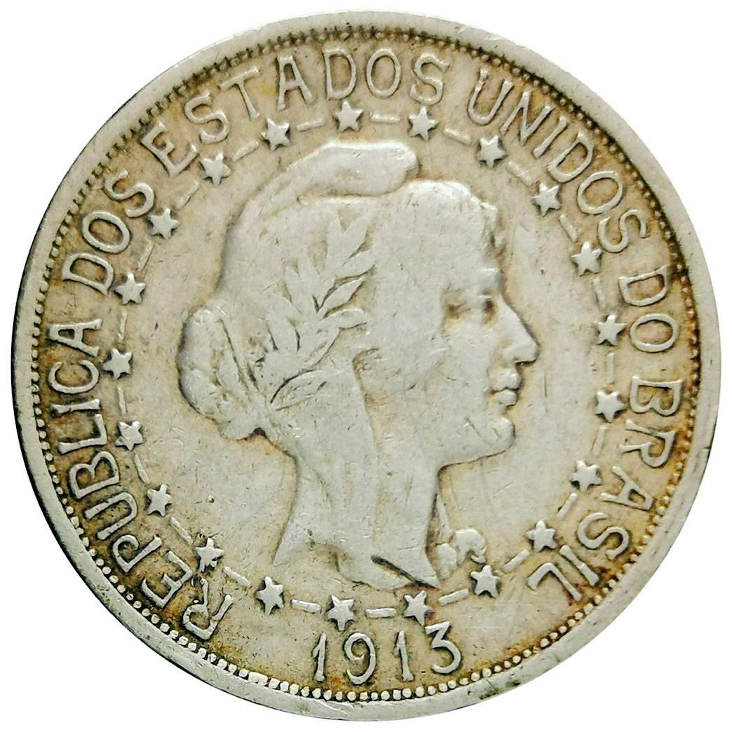 Coin 1000 Réis (estrelas ligadas) Brazil reverse