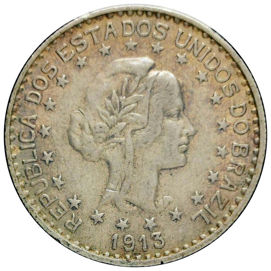 Coin 1000 Réis (estrelas soltas) Brazil reverse