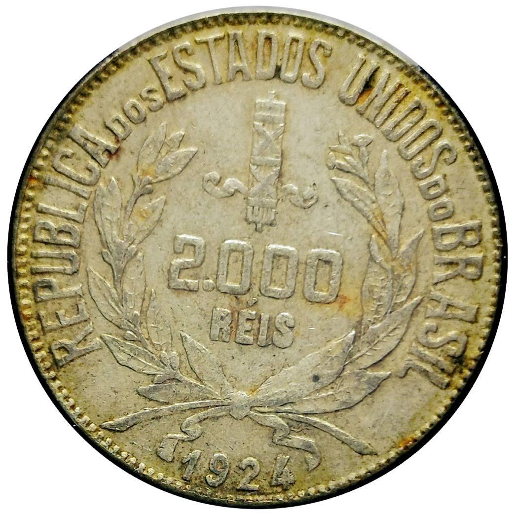 Coin 2000 Réis Brazil obverse