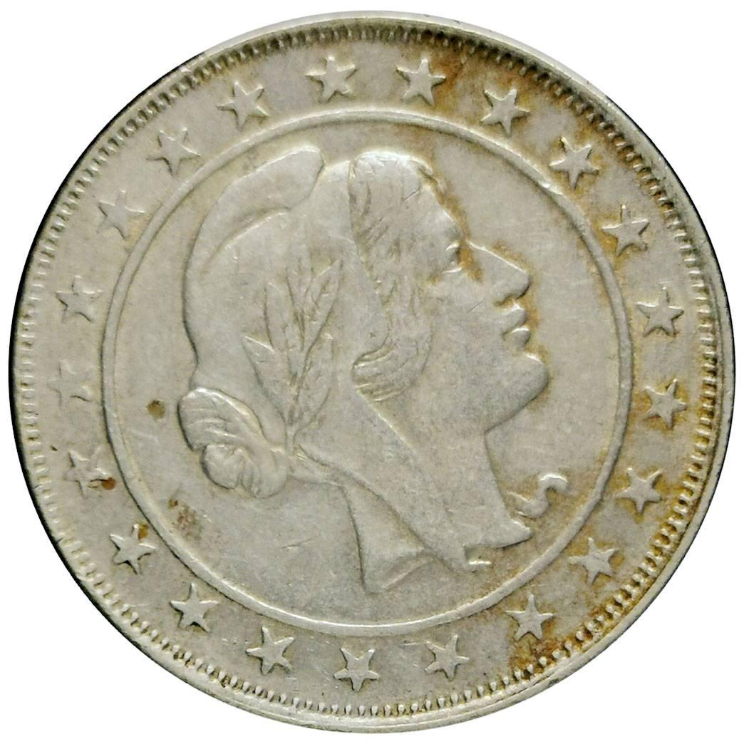 Coin 2000 Réis 1925 - Reverso Inclinado Brazil reverse
