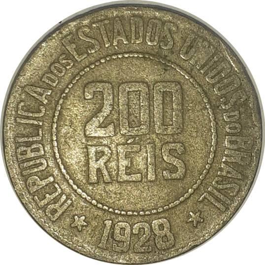 Coin 200 Réis Brazil obverse