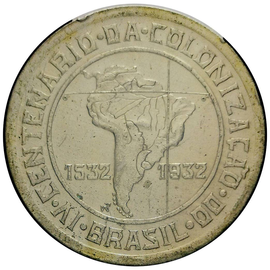 Coin 400 Réis (400th Anniversary of Colonization) Brazil reverse