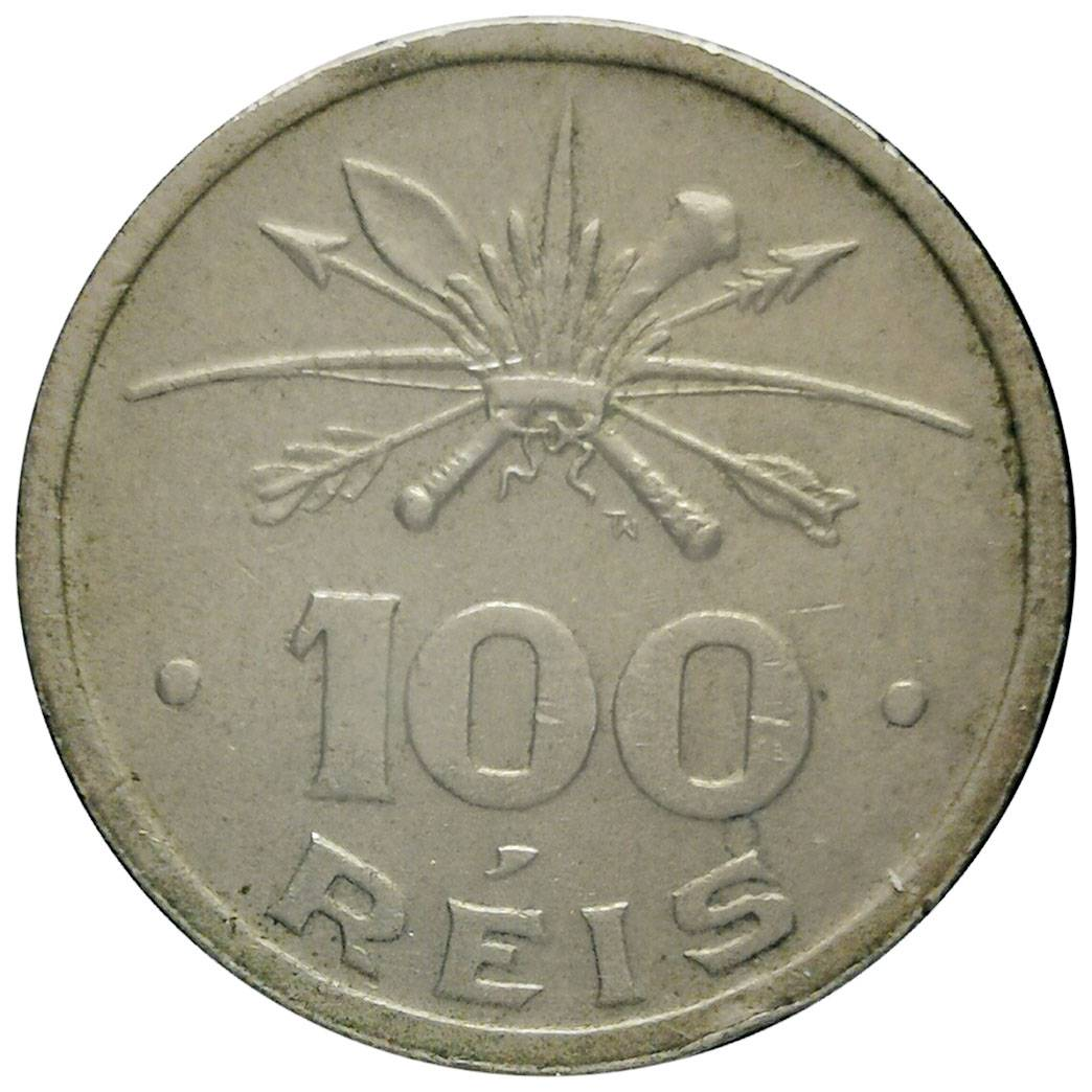 Coin 100 Réis (400th Anniversary of Colonization) Brazil obverse