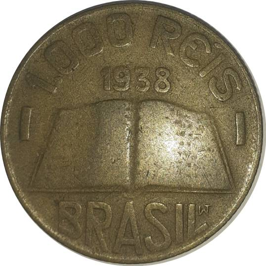 Coin 1000 Réis (Anchieta, small type) Brazil obverse