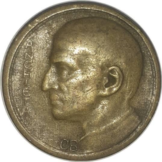 Coin 1000 Réis (Anchieta, small type) Brazil reverse