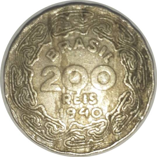 Coin 200 Réis undefined obverse