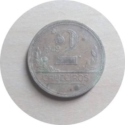 Coin 2 Cruzeiros Brazil obverse