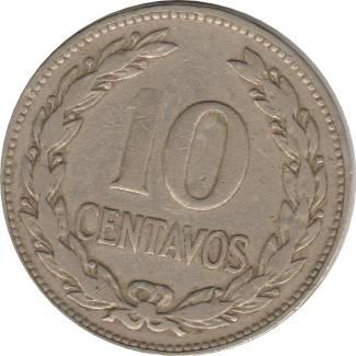Coin 10 Centavos El Salvador obverse