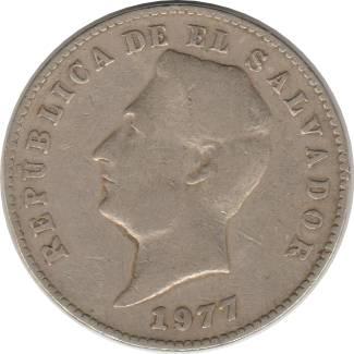 Coin 10 Centavos El Salvador reverse