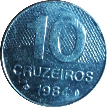 Coin 10 Cruzeiros - Brazil's main roads Brazil obverse